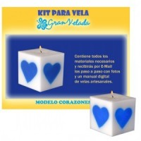 Kit Para Velas Modelo Coraz&oacute;n