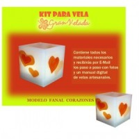 Kit Para Velas Fanal Corazones