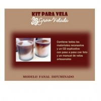 Kit Para Velas Fanal Difuminado