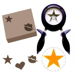 Perforador de figuras para papel de regalo
